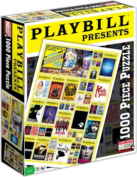Playbill 1000 piece jigsaw puzzle of Broadway Posters