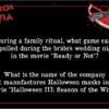 Horror Trivia Part II Deeper Cuts Question Card sample