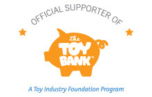 Official Supporter of the Toy Bank badge